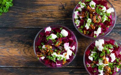 Roasted Beet Salad with Beet Greens and Feta Recipe