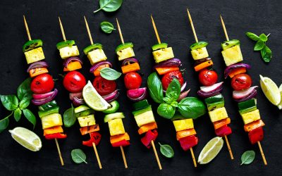 Grilled Pepper and Summer Squash Skewers Recipe